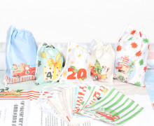DIY Adventskalender - Säckchen - zum selber Nähen - Christmas Cars - Weihnachten - 2021 - abby and me