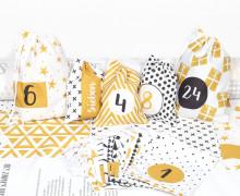 DIY Adventskalender - Säckchen - zum selber Nähen - Golden Christmas - Weihnachten - 2021 - abby and me