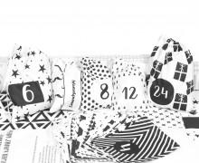 DIY Adventskalender - Säckchen - zum selber Nähen - Black & White Christmas - Weihnachten - 2021 - abby and me