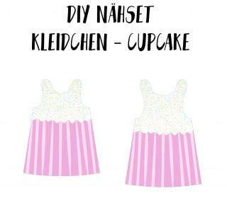 DIY-Nähset Kleidchen - Cupcake - Jersey - Fasching - Karneval - Kostüm - zum selber Nähen
