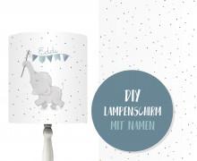 DIY Lampenschirm - Beautiful Summer - Eddi - Stickherz - Set - personalisierbar - zum Selbermachen