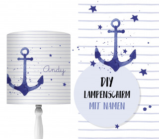 DIY Lampenschirm - Tales of a Sailor - Anker - Set - personalisierbar - zum Selbermachen