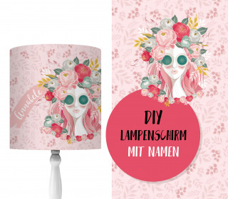 DIY Lampenschirm - Flower Girl - Rose - Set - personalisierbar - zum Selbermachen