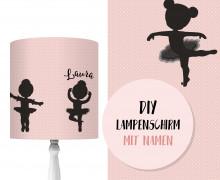 DIY Lampenschirm - Ballerina - Set - personalisierbar - zum Selbermachen