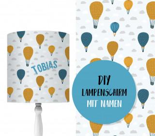 DIY Lampenschirm - Heißluftballon - Set - personalisierbar - zum Selbermachen