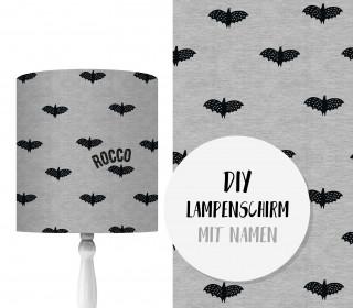 DIY Lampenschirm - Fledermäuse - Set - personalisierbar - zum Selbermachen