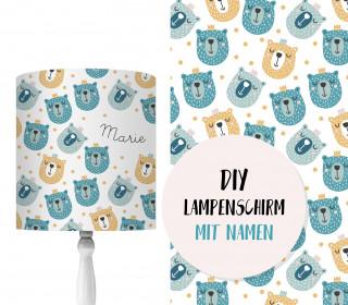 DIY Lampenschirm – Bären mit Krone – Set – personalisierbar – zum Selbermachen