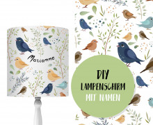 DIY Lampenschirm - Kleine Vögel - Set - personalisierbar - zum Selbermachen
