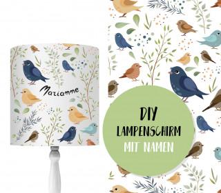DIY Lampenschirm – Kleine Vögel – Set – personalisierbar – zum Selbermachen