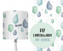 DIY Lampenschirm - Cotton Candy - Mint - Little Love - Set - personalisierbar - zum Selbermachen