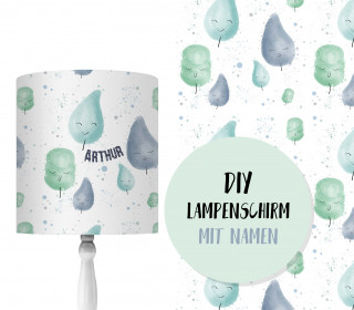 DIY Lampenschirm – Cotton Candy – Mint – Little Love – Set – personalisierbar – zum Selbermachen
