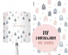 DIY Lampenschirm - Tiny Houses - Set - personalisierbar - zum Selbermachen