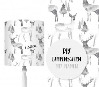 DIY Lampenschirm - Dreamy Deer - Set - personalisierbar - zum Selbermachen