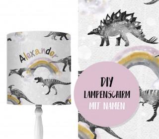 DIY Lampenschirm – Dino Collection – Große Regenbögen – Set – personalisierbar – zum Selbermachen