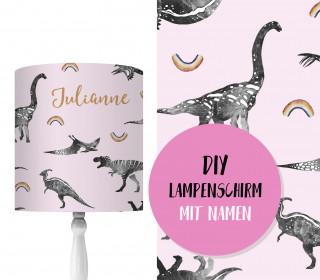DIY Lampenschirm – Dino Collection – Kleine Regenbögen – Set – personalisierbar – zum Selbermachen