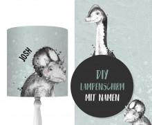 DIY Lampenschirm - Trixie & Sam - Dinosaurier - Set - personalisierbar - zum Selbermachen