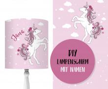 DIY Lampenschirm - Magic Einhorn - Set - personalisierbar - zum Selbermachen