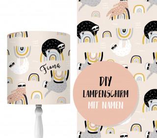 DIY Lampenschirm – Faultier & Regenbogen – Set – personalisierbar – zum Selbermachen