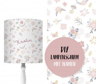 DIY Lampenschirm - Kleine Blüten - Set - personalisierbar - zum Selbermachen