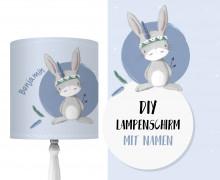 DIY Lampenschirm - Hase Bo - Stickherz - Set - personalisierbar - zum Selbermachen