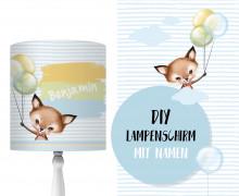 DIY Lampenschirm - Little Fox - Set - personalisierbar - zum Selbermachen