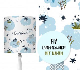 DIY Lampenschirm - Magical Clouds - Set - personalisierbar - zum Selbermachen