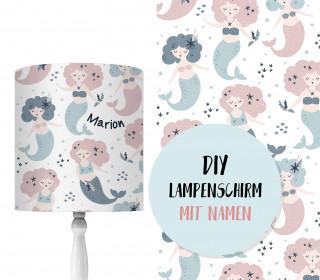 DIY Lampenschirm - Mystical Mermaids - Weiß - Set - personalisierbar - zum Selbermachen