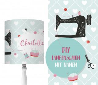 DIY Lampenschirm - Nähmaschine - Sew Love - Set - personalisierbar - zum Selbermachen