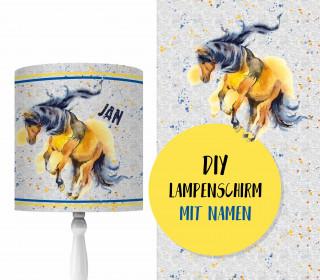 DIY Lampenschirm - Wild Horse - Set - personalisierbar - zum Selbermachen