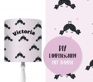 DIY Lampenschirm - Kleine Prinzessin - Set - personalisierbar - zum Selbermachen