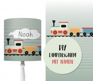 DIY Lampenschirm - Train Ride - Zug - Set - personalisierbar - zum Selbermachen