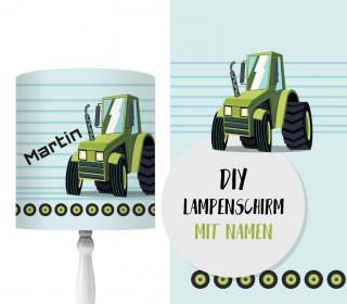 DIY Lampenschirm - Trecker - Traktor - Set - personalisierbar - zum Selbermachen