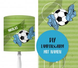DIY Lampenschirm - Fußball Feld - Set - personalisierbar - zum Selbermachen