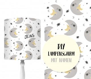 DIY Lampenschirm - Moon & Star Friends - Set - personalisierbar - zum Selbermachen