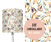 DIY Lampenschirm - Bunte Falter - Set - personalisierbar - zum Selbermachen