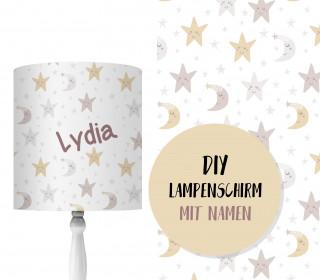 DIY Lampenschirm - Cute Stars - Set - personalisierbar - zum Selbermachen