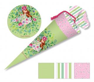 DIY-Nähset Schultüte - Wildblume Illustration - Blütenelfe - zum selber Nähen