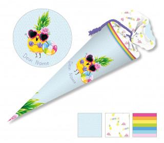 DIY-Nähset Schultüte - Wildblume Illustration - Crazy Ananas - zum selber Nähen