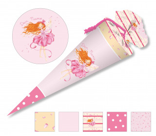 DIY-Nähset Schultüte - Wildblume Illustration - Tanzfee - zum selber Nähen
