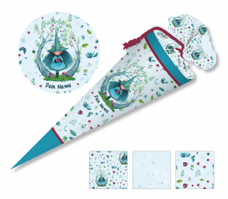 DIY-Nähset Schultüte - Wildblume Illustration - Waldwichtel - zum selber Nähen