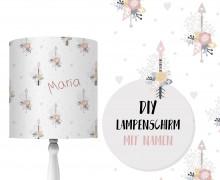 DIY Lampenschirm - Flowery Arrows - Set - personalisierbar - zum Selbermachen