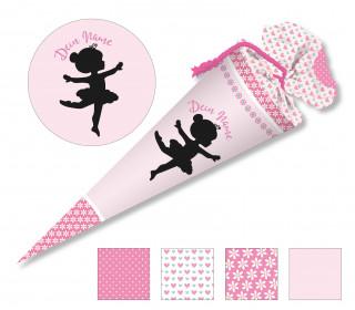 DIY-Nähset Schultüte - Ballerina - Blüten - zum selber Nähen
