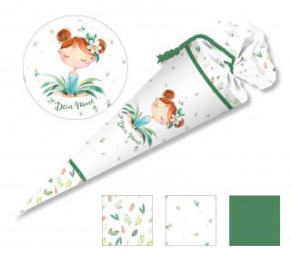 DIY-Nähset Schultüte - Blumenmädchen Margerite - zum selber Nähen