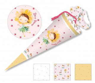 DIY-Nähset Schultüte - Blumenmädchen Sonnenblume - zum selber Nähen