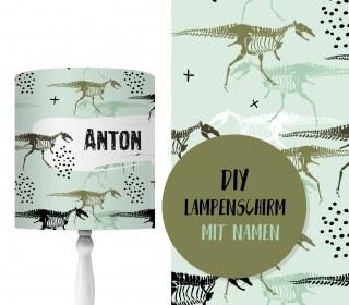 DIY Lampenschirm - Dino Skeleton - Set - personalisierbar - zum Selbermachen