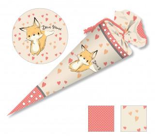 DIY-Nähset Schultüte - Lovely Fox - Herzen - zum selber Nähen