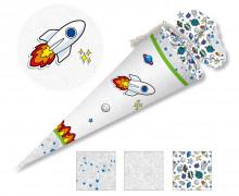 DIY-Nähset Schultüte - Rakete - Weltraum - zum selber Nähen