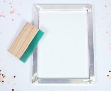 DIY Siebdruck Rahmen - A3 - inkl. Rakel