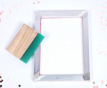 DIY Siebdruck Rahmen - A4 - inkl. Rakel