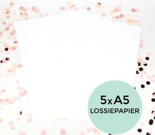 Lossiepapier - 5er Set - A3 - wasser- und reißfest - Siebdruckpapier